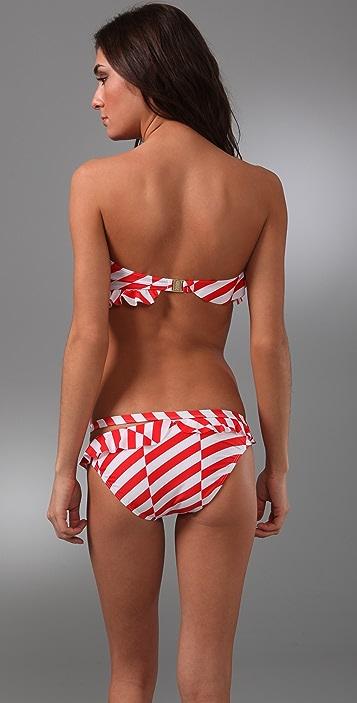 camilla and marc Striped Blackjack Bandeau Bikini