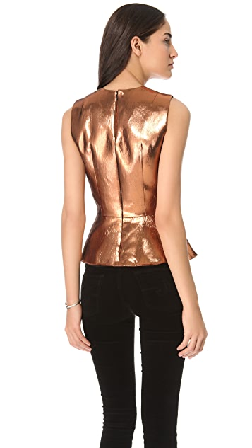 camilla and marc Bonaparte Foil Peplum Top