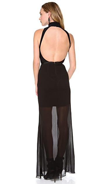 camilla and marc Correlation Backless Maxi Dress