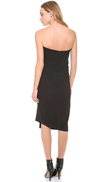 camilla and marc Equivalence Strapless Buckle Dress