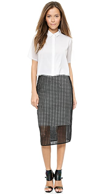 camilla and marc Counterfeit Lace Skirt