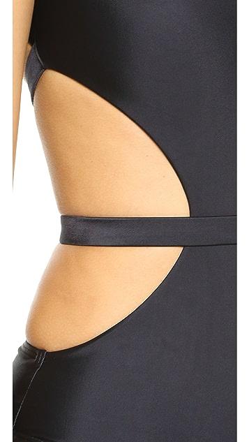 CM Cia Maritima Solids Atame Cutout Swimsuit