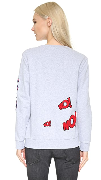 Mira Mikati Words Patched Sweatshirt