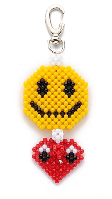 Mira Mikati Del Duca Smiley Heart Bag Charm