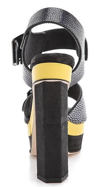 Chrissie Morris Ida Colorblock Sandals