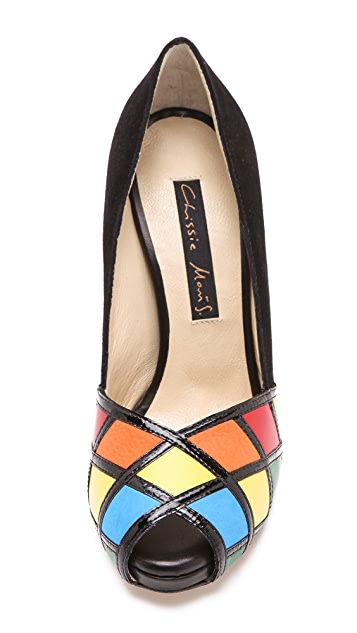 Chrissie Morris Rubiks Multicolored Pumps