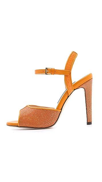 Chrissie Morris Farrah Python & Stingray Sandals