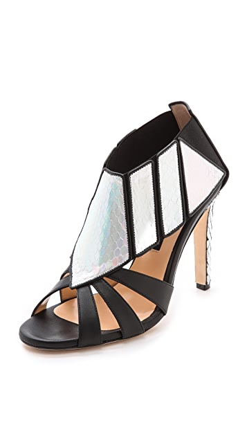 Chrissie Morris Barbella Python Heels