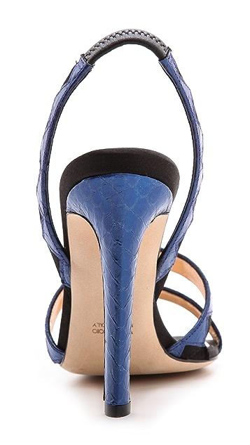 Chrissie Morris Tina Python Sandals