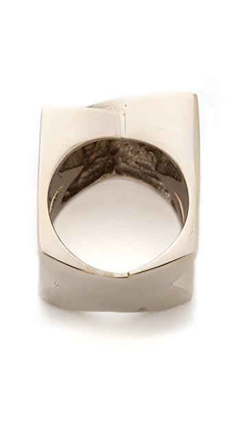 Campbell Textured Double Fisheye Ring