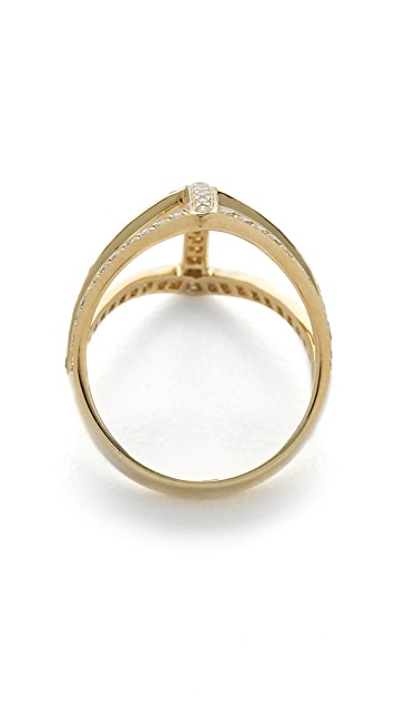 Campbell Diamond Shield Ring
