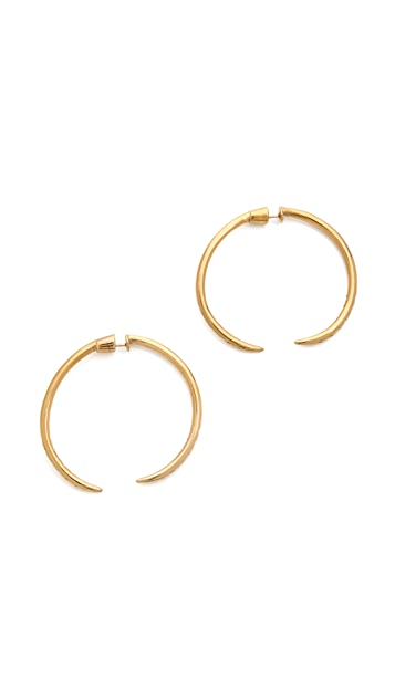Campbell Sparkle Talon Hoop Earrings