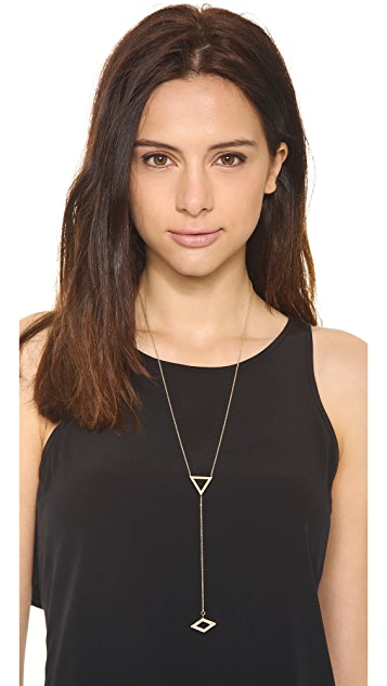 Campbell Triangle Lariat Necklace