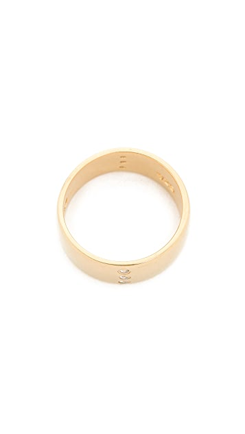 Campbell Mini Row Cigar Band Pinky Ring