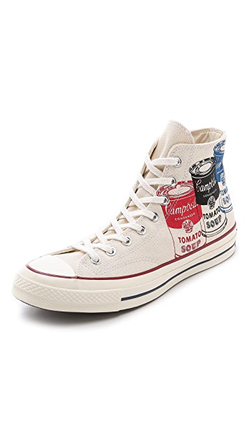 7958010be65a04 Converse Warhol x Chuck Taylor All Star  70 High Top Sneakers