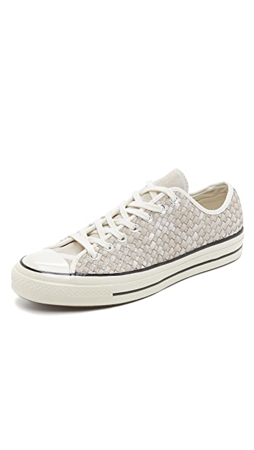 09d016104529 Converse Chuck Taylor All Star Woven Leather Sneakers