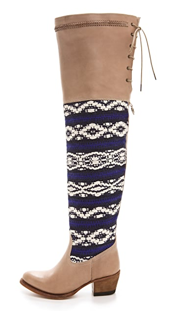 Cobra Society Zeus Over the Knee Boots with Tapestry