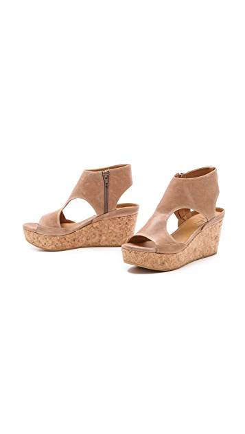 Coclico Shoes Mosaic Cork Wedge Sandals