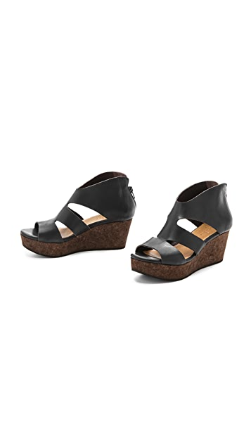 Coclico Shoes Megumi Cork Wedge Sandals