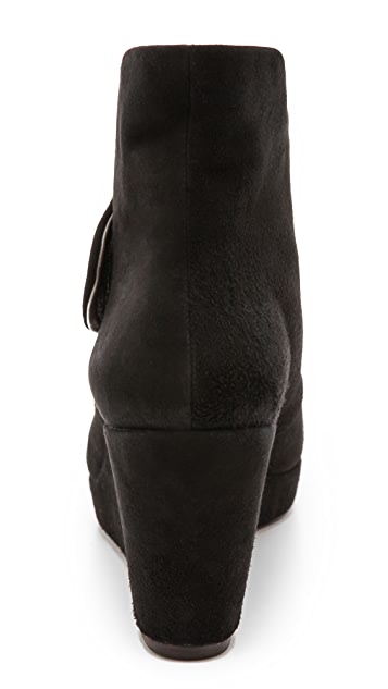 Coclico Shoes Henrietta Suede Wedge Booties