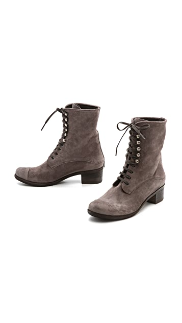 Coclico Shoes Mina Lace Up Booties
