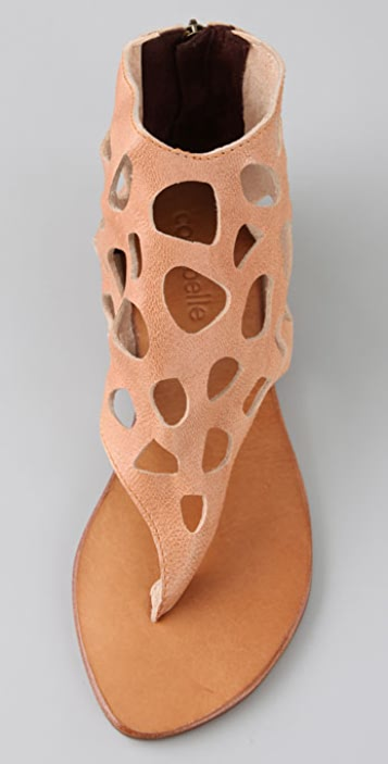 Cocobelle Safari Thong Sandals with Cutout Cuff