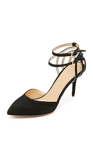 Charlotte Olympia Pointed Grommet Pumps