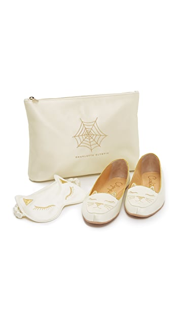 The Cheapest Charlotte Olympia Cat Nap slippers Very Cheap Sale Online Outlet From China Sale Looking For Discount Buy yVvuXlvhT