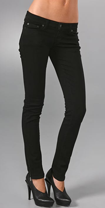 Community Denim Low Rise Skinny Jeans with Zip