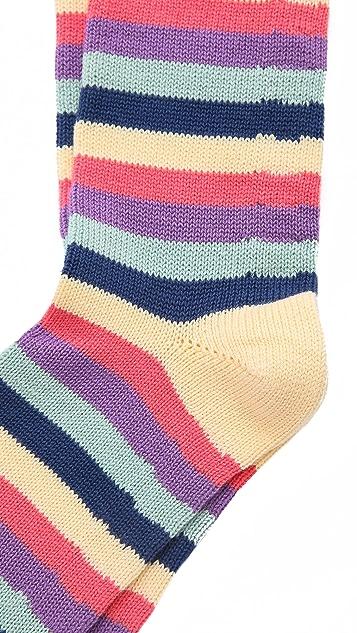 Corgi 5 Color Stripe Socks