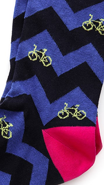 Corgi Bicycle Print Socks