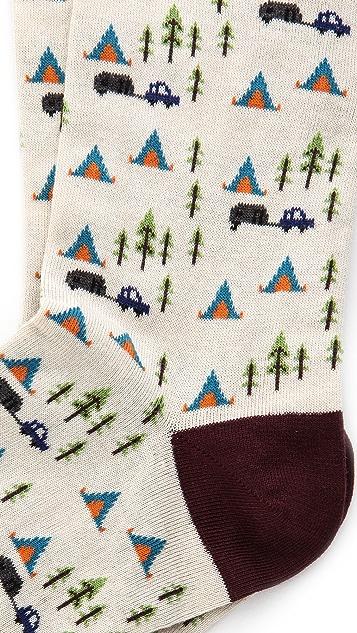 Corgi Camp Print Socks