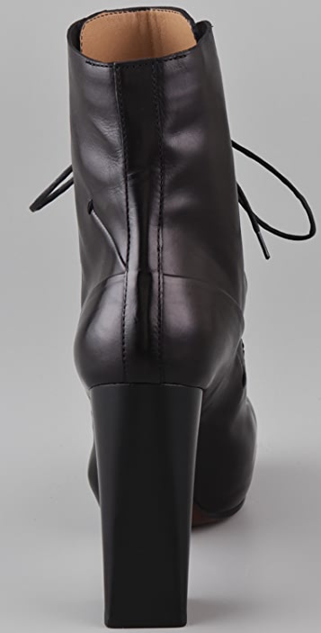 CoSTUME NATIONAL Lace Up High Heel Booties