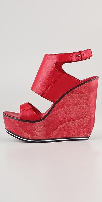 CoSTUME NATIONAL 1 Band Platform Clog Sandals