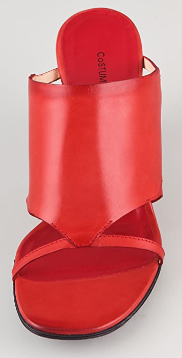 CoSTUME NATIONAL Open Toe Wooden Wedge Sandals