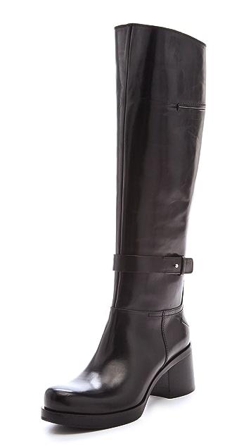 CoSTUME NATIONAL Mid Heel Wraparound Boots