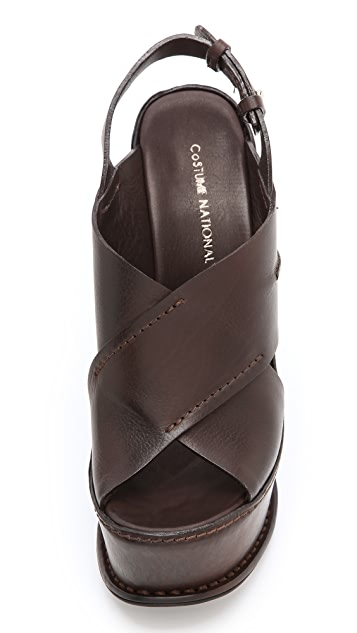 CoSTUME NATIONAL Ramona Wedge Sandals