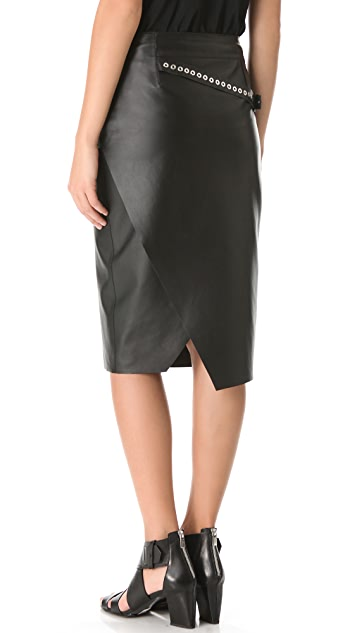 CoSTUME NATIONAL Leather Skirt