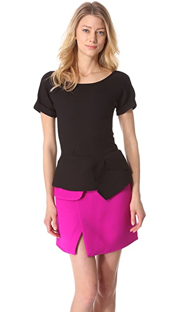 CoSTUME NATIONAL Asymmetrical Short Sleeve Top