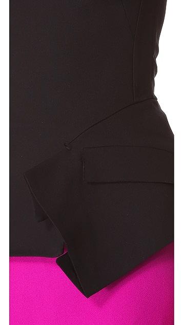 CoSTUME NATIONAL Asymmetrical Short Sleeve Top