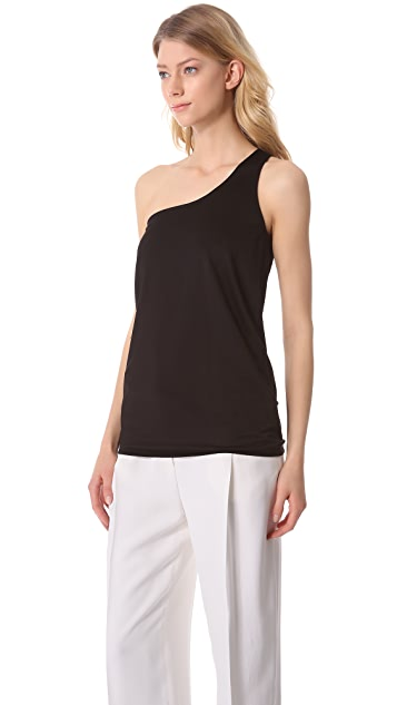 CoSTUME NATIONAL Asymmetrical One Shoulder Jersey Top