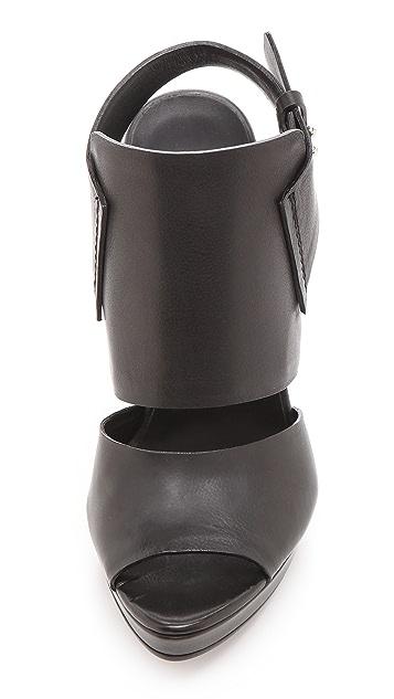 CoSTUME NATIONAL Sling Back Heeled Sandals