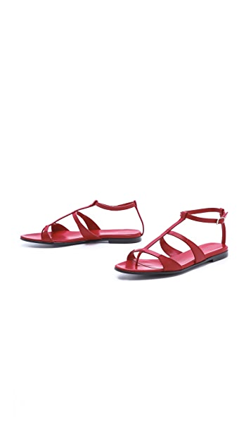 CoSTUME NATIONAL T Strap Sandals