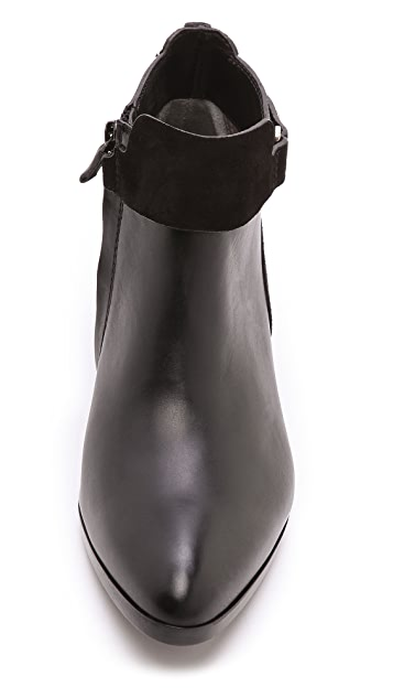 CoSTUME NATIONAL Leather Ankle Booties