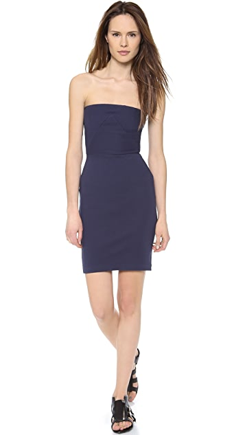 CoSTUME NATIONAL Strapless Fitted Dress