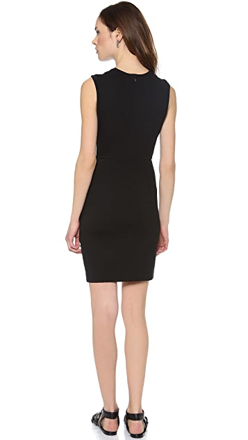 CoSTUME NATIONAL Draped Fitted Dress