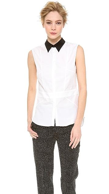 CoSTUME NATIONAL Sleeveless Shirt with Inserts