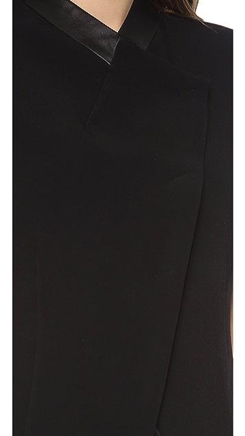 CoSTUME NATIONAL Fitted Sleeveless Jacket