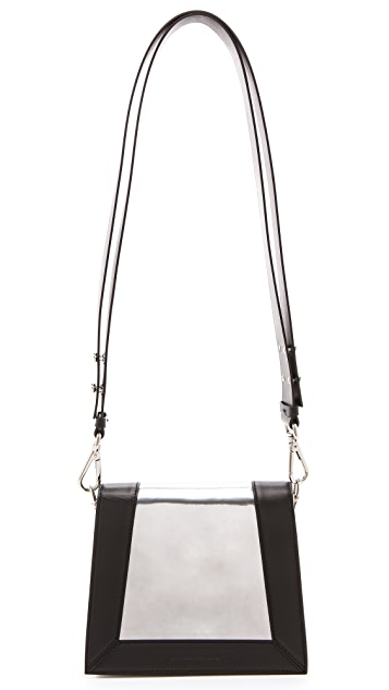 CoSTUME NATIONAL Mirrored Leather Handbag