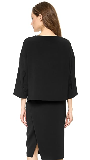 CoSTUME NATIONAL 3/4 Sleeve Top